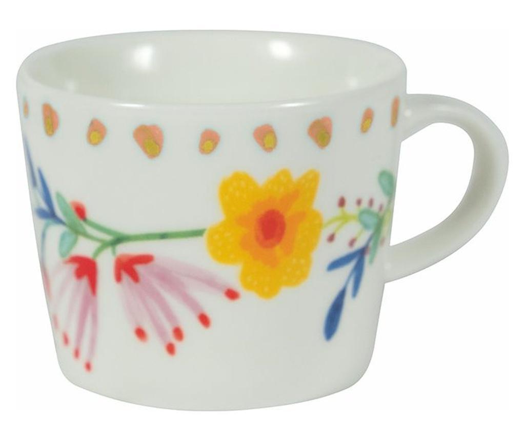 Set 6 cesti pentru cafea Paseo de Flores