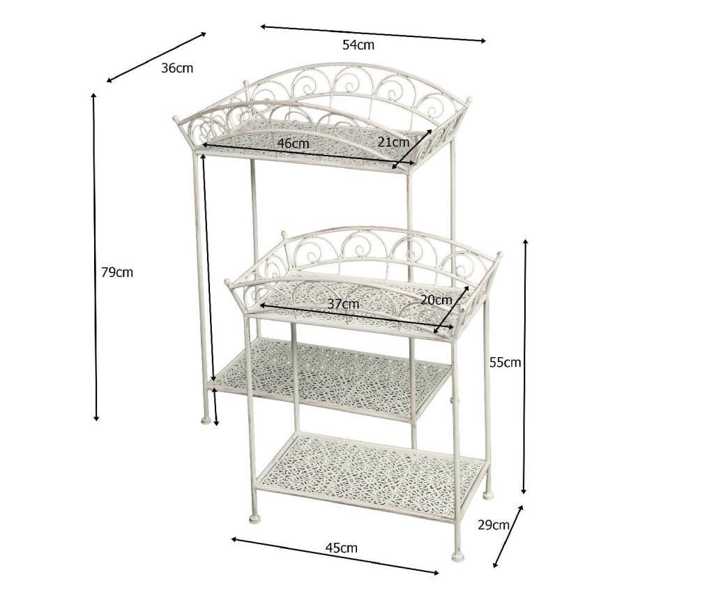 Set 2 suporturi pentru ghivece