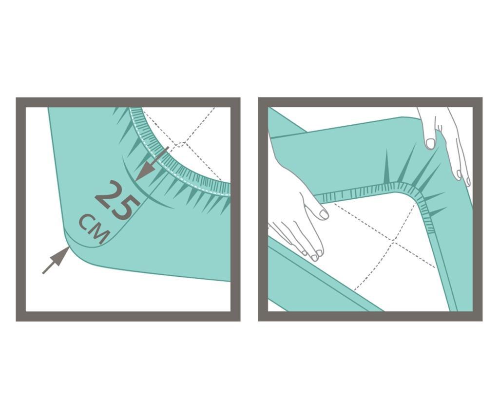 Cearsaf de pat cu elastic  100x200 cm