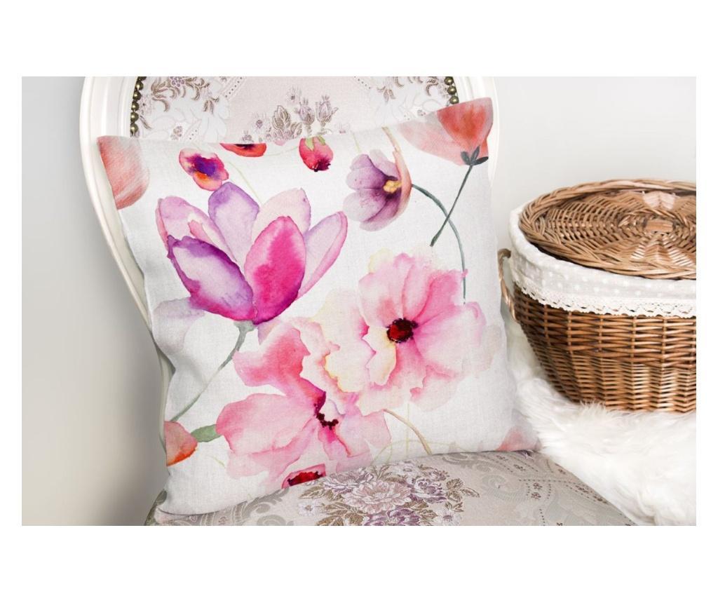 Jastučnica White Background Flower Modern 45x45 cm