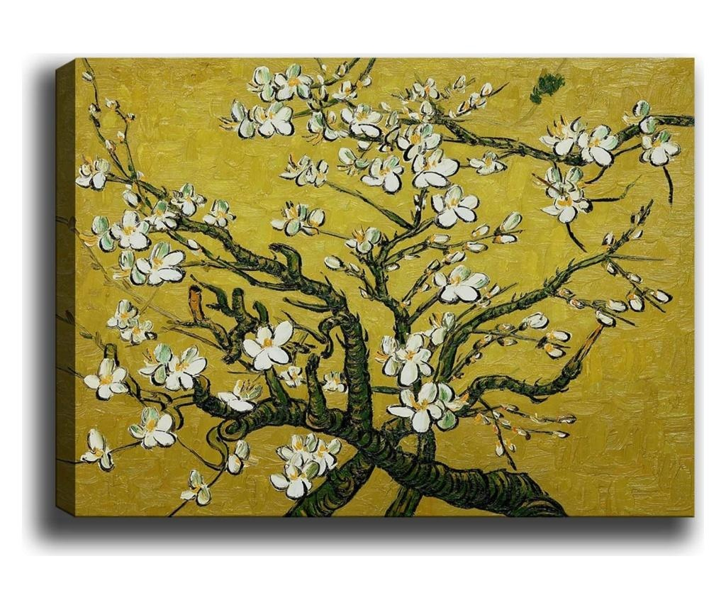 Tablou Branches of an Almond Tree in Yellow 100x140 cm