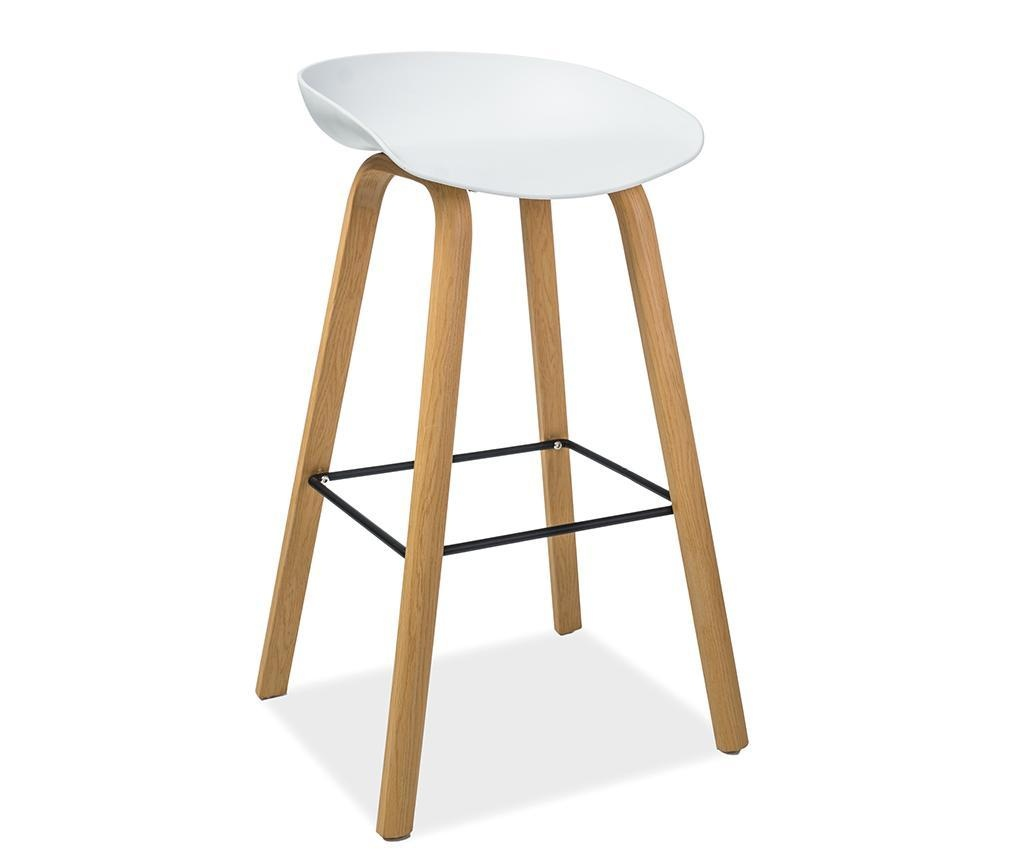 Barová stolička Gusti White