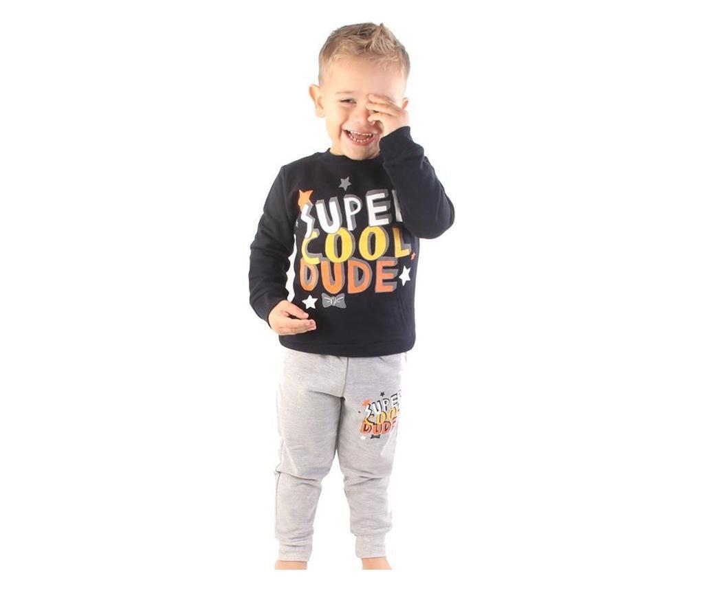 Pijama baieti Super Cool Dude 2 years