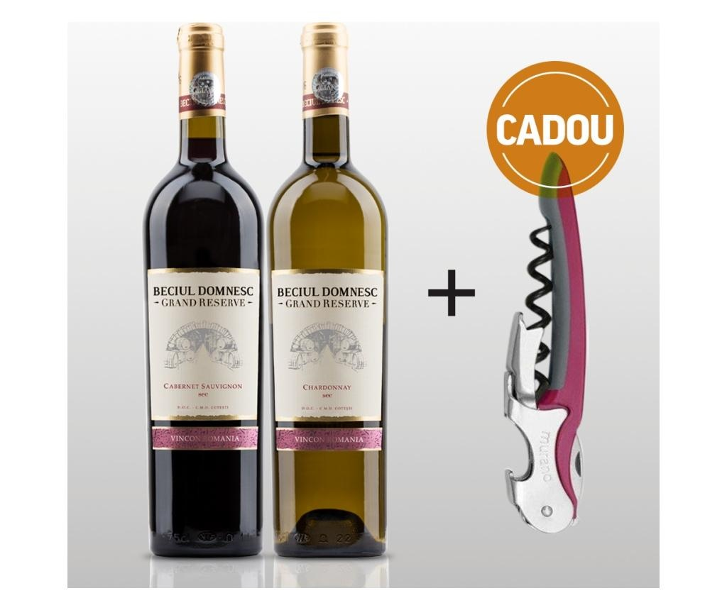 Pachet Cabernet Sauvignon sec + Chardonnay sec + Tirbuson