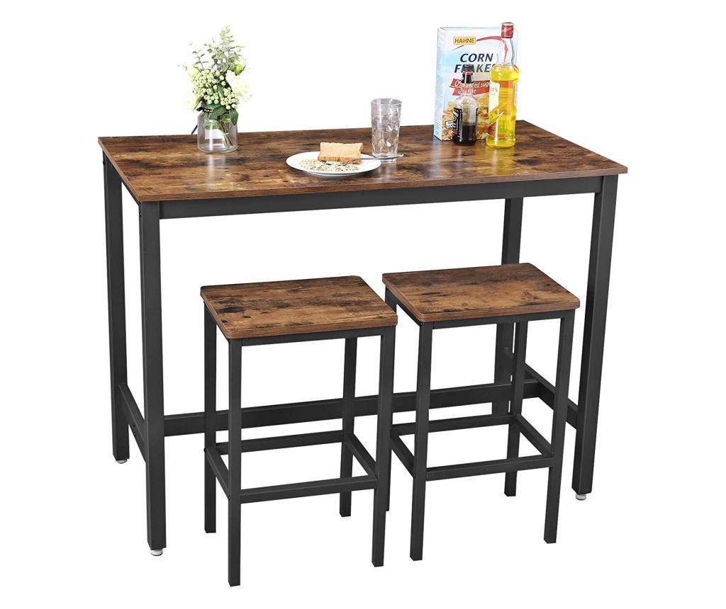 Set masa de bar si 2 scaune de bar