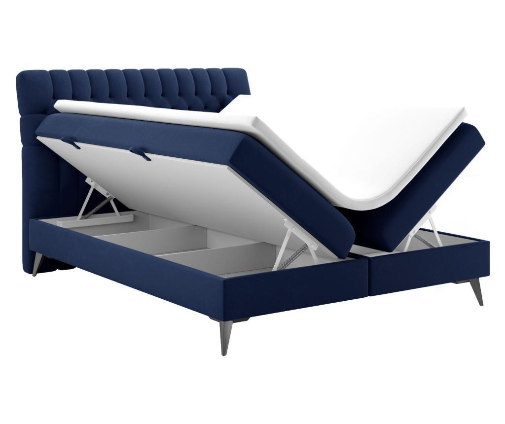 Boxspring postelja s prostorom za shranjevanje Madison Galaxy Blue 180x200 cm