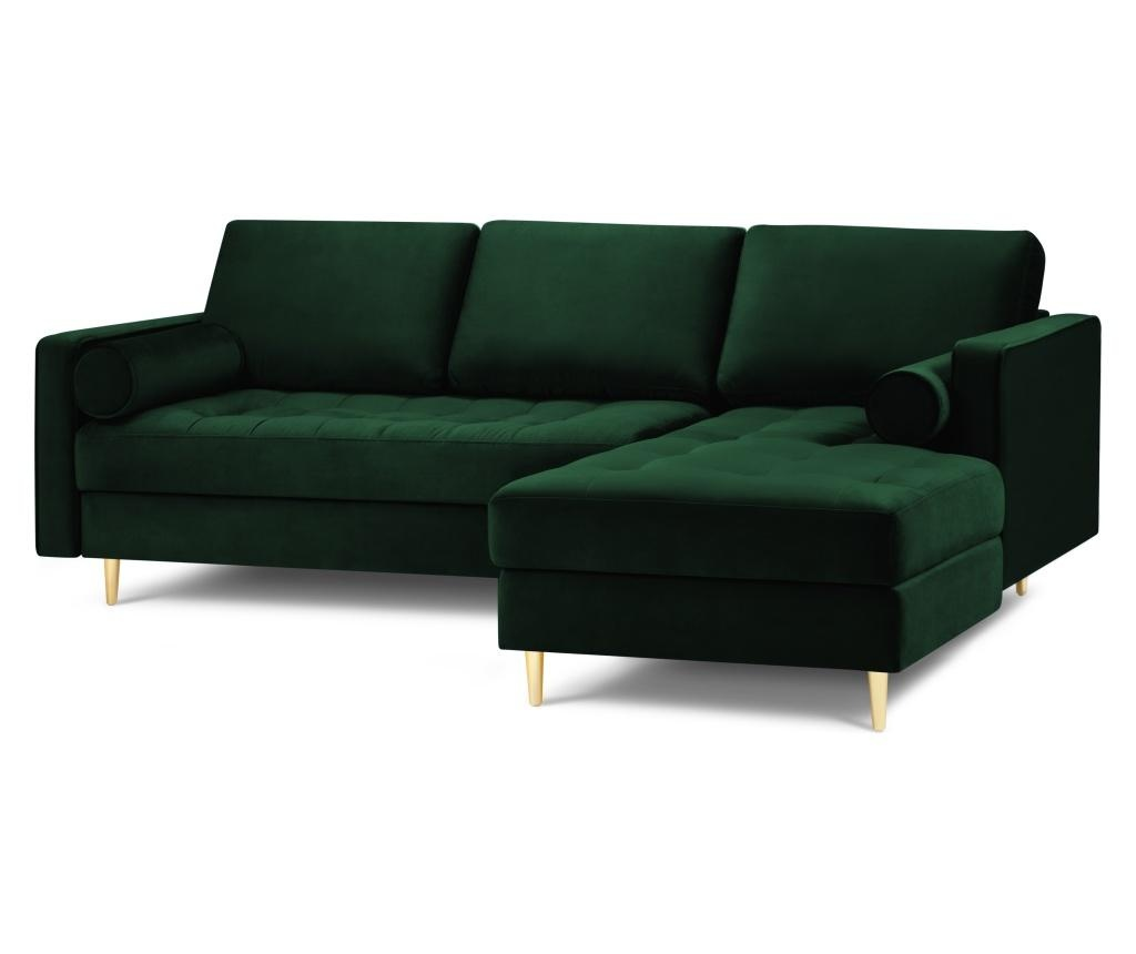 Coltar dreapta Velvet Giulietta Bottle Green