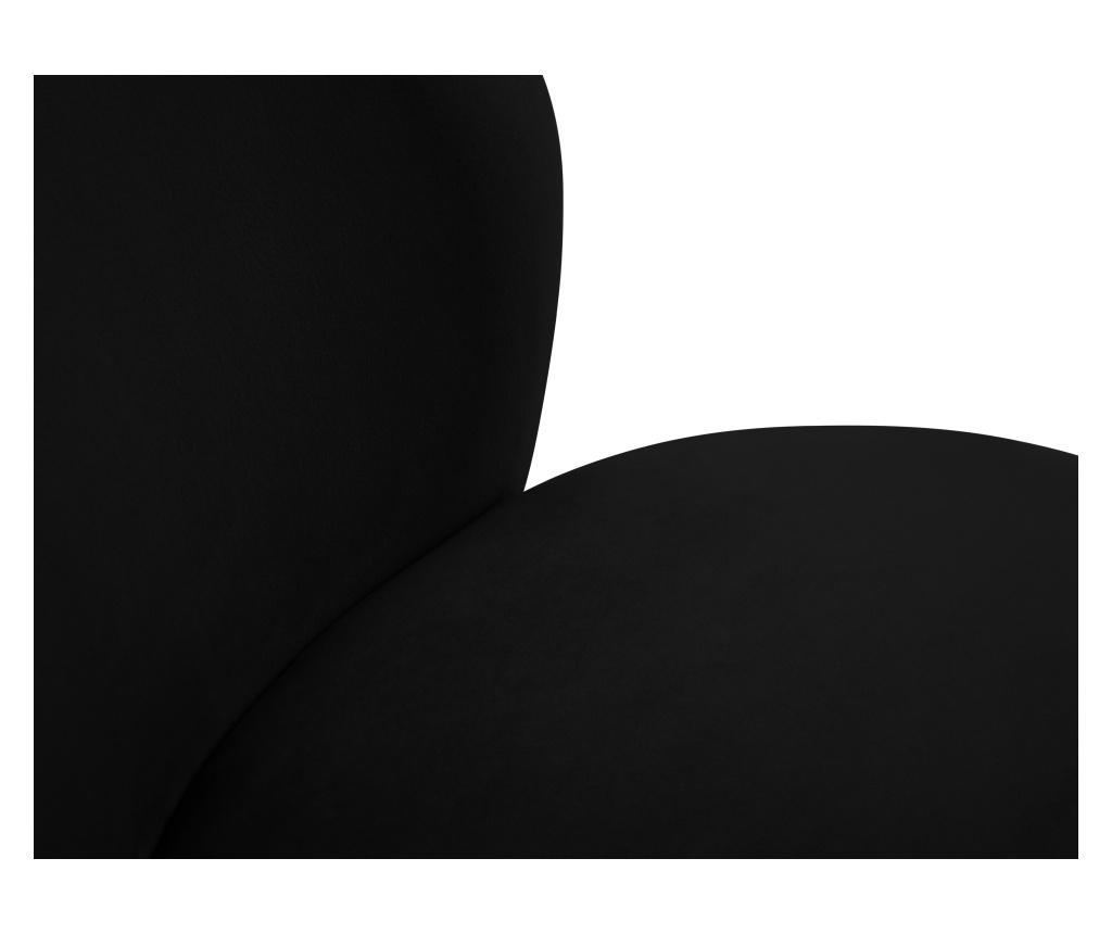 Scaun Velvet Marimba Black