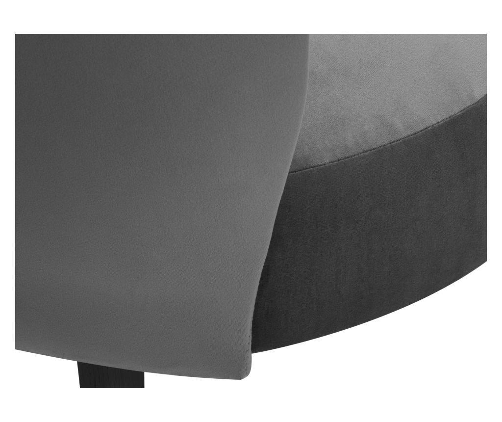 Scaun Velvet Marimba Light Grey