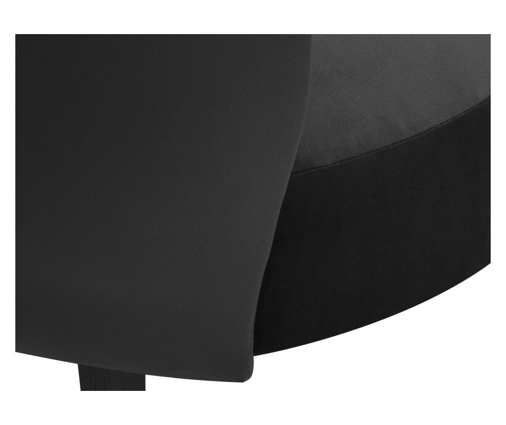 Scaun Velvet Marimba Dark Grey