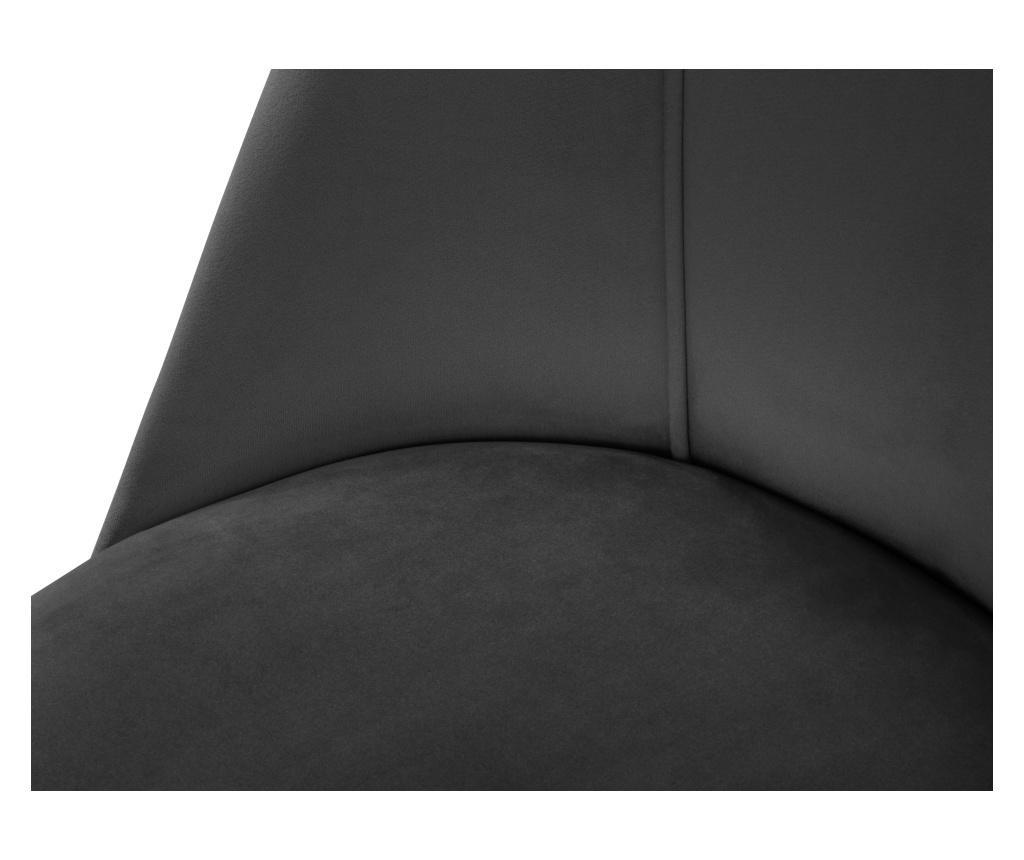Scaun Velvet Sonata Dark Grey