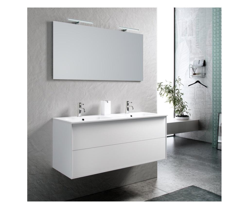 Zestaw mebli łazienkowych 5 części Double Vanity  Ago