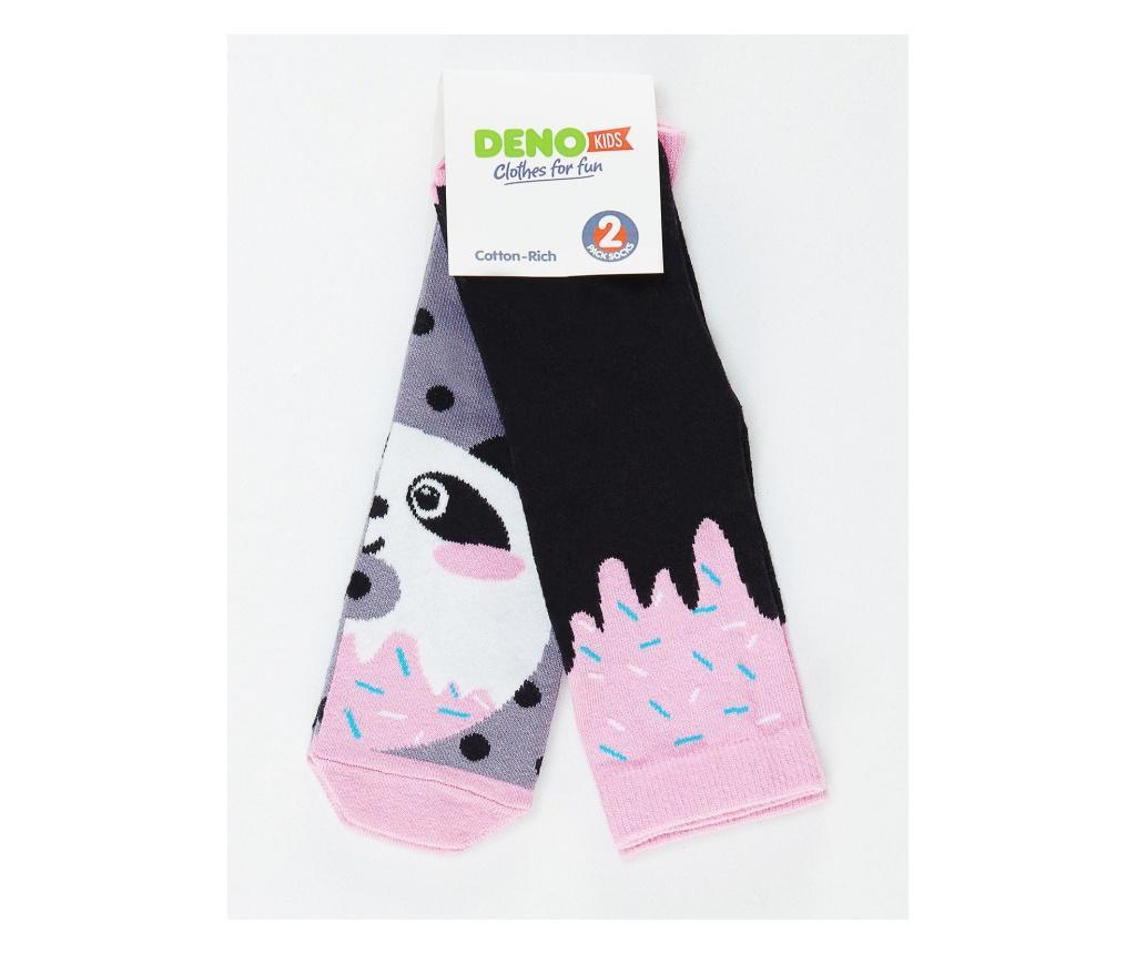Set 2 perechi de sosete Panda&Cream 2-3 years