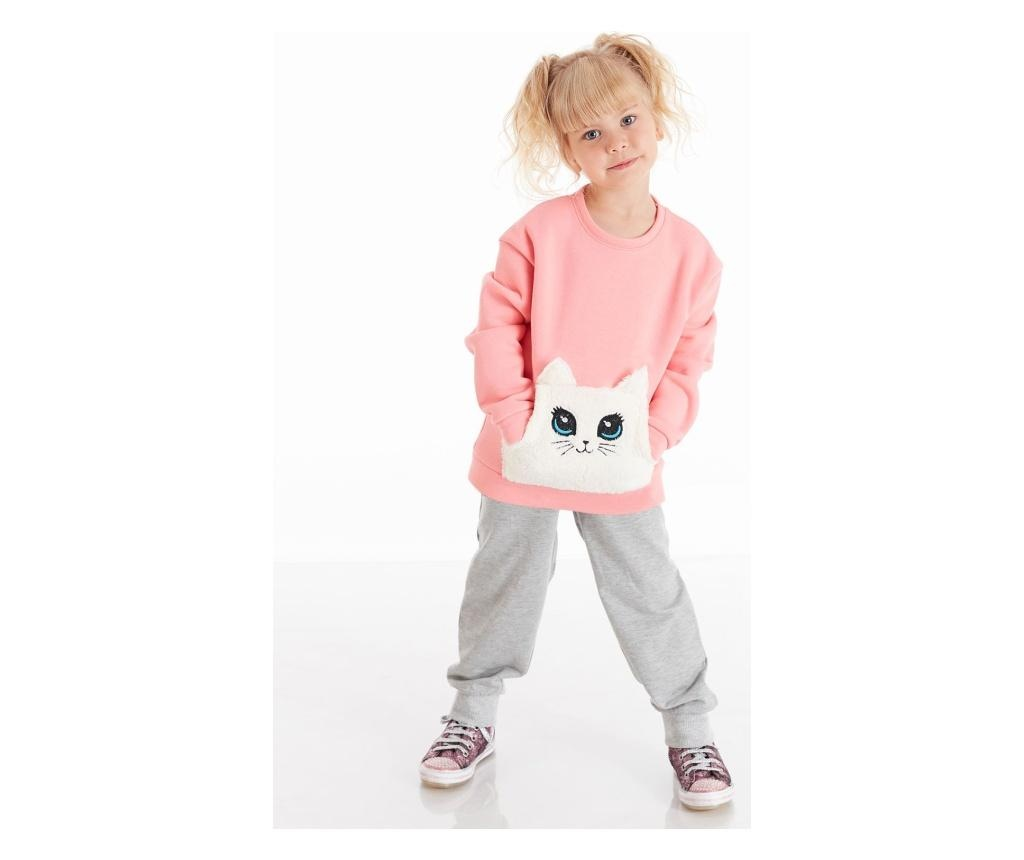 Set hanorac si pantaloni Plush Cat 6 years