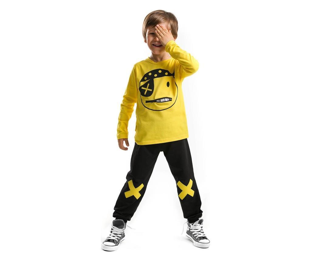 Set bluza si pantaloni Pirate Emoji 2 years