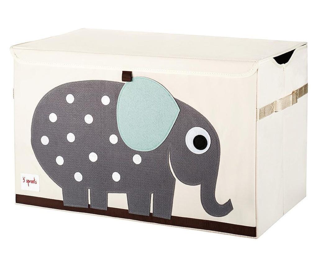 Cutie depozitare pentru camera copiilor, Elefant, XL