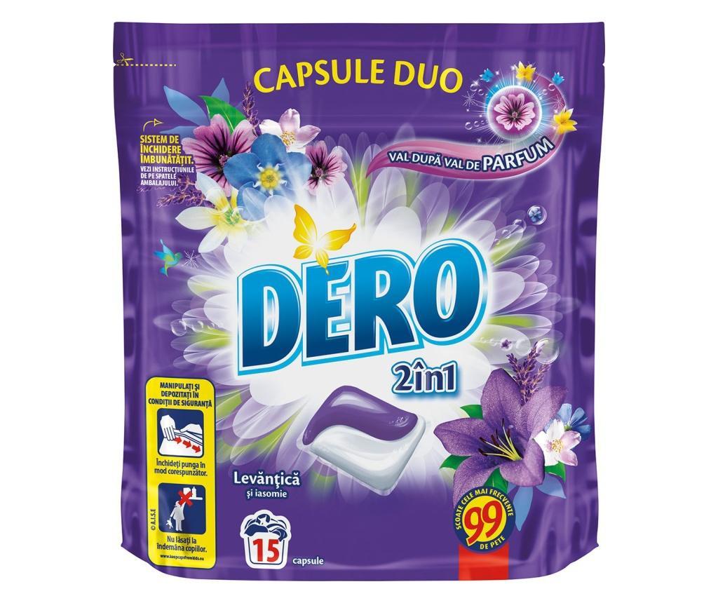 Capsule detergent pentru rufe Dero Lavander 15 pieces 360 ml