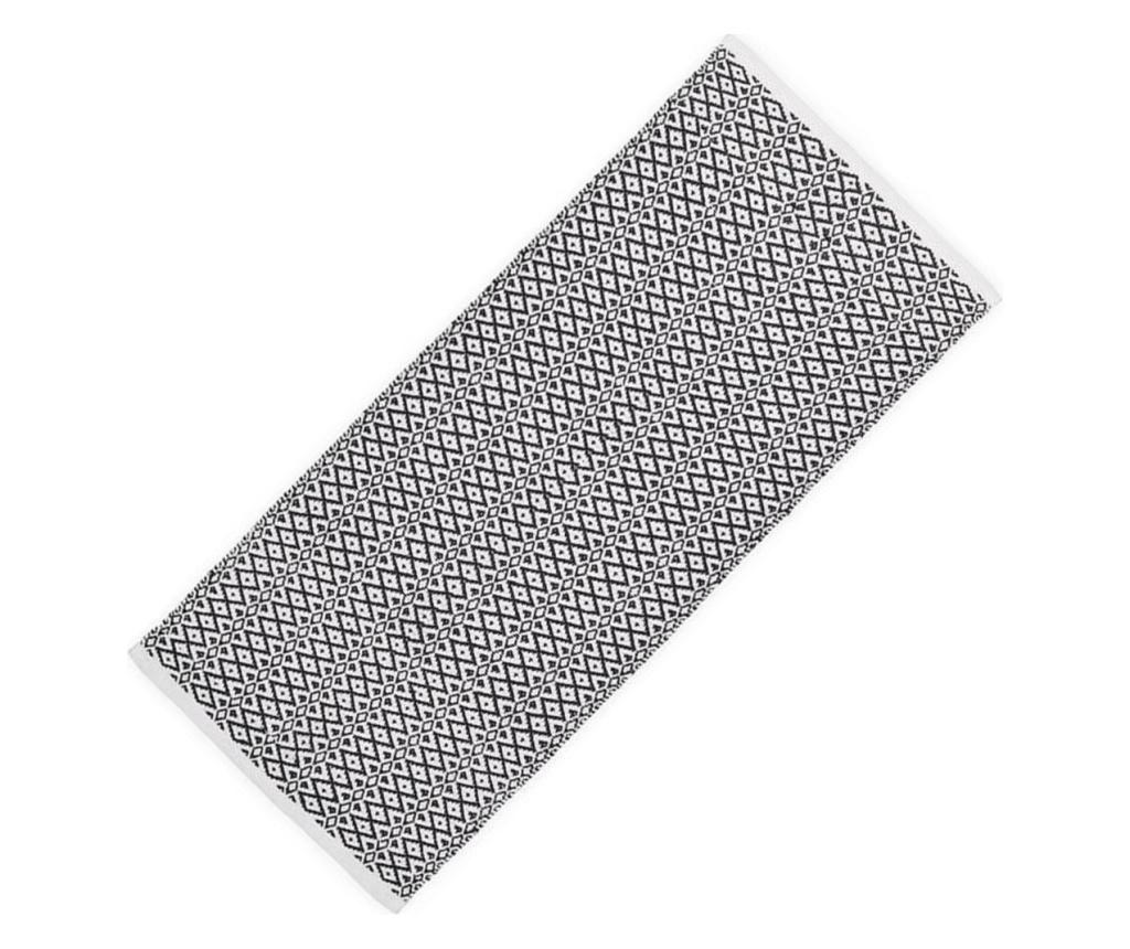 Covor Relaxdays, lucrat manual, strat anti-alunecare 70x140 cm