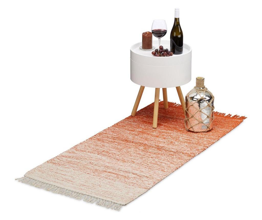 Covor Relaxdays, lucrat manual, strat anti-alunecare 80x200 cm