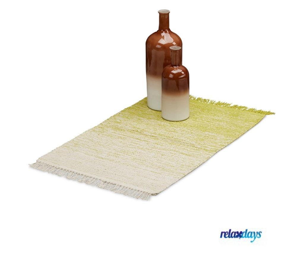 Covor Relaxdays, lucrat manual, strat anti-alunecare 60x90 cm