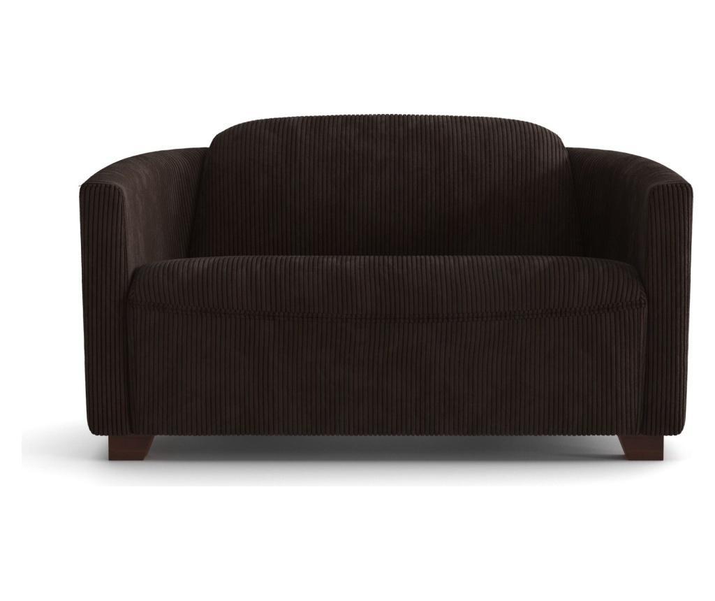 Canapea 2 locuri Milton Dark Brown