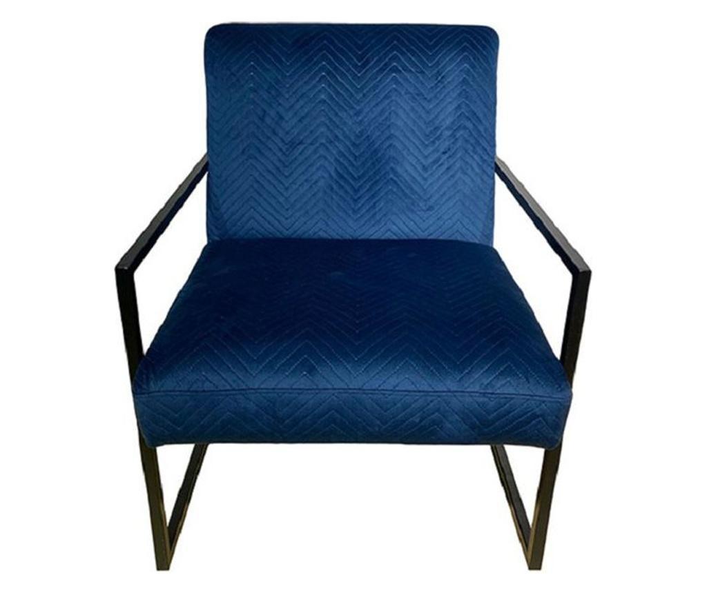 Fotoliu Dark Blue Velvet Confort
