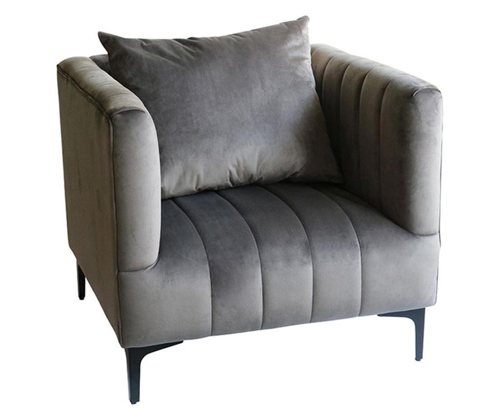 Fotoliu Grey Velvet Confort