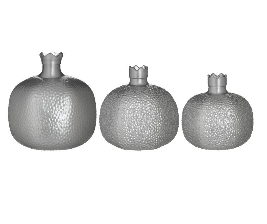 Zestaw 3 deoracyjnych wazonów Pomegranate
