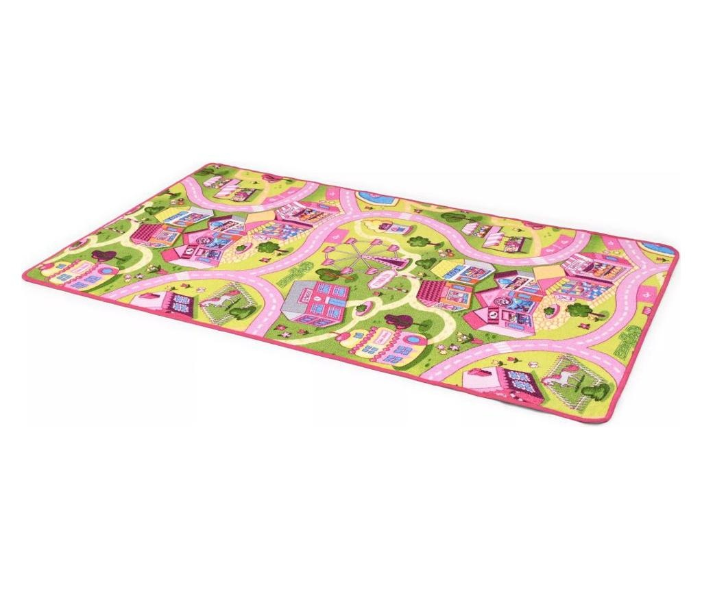 Tepih za igranje 100 x 165 cm uzorak lijepog gradića