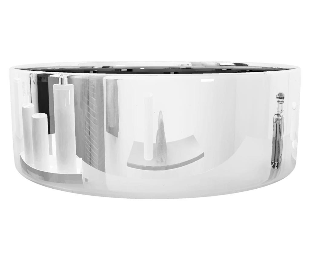 Umivaonik 40 x 15 cm keramički srebrni