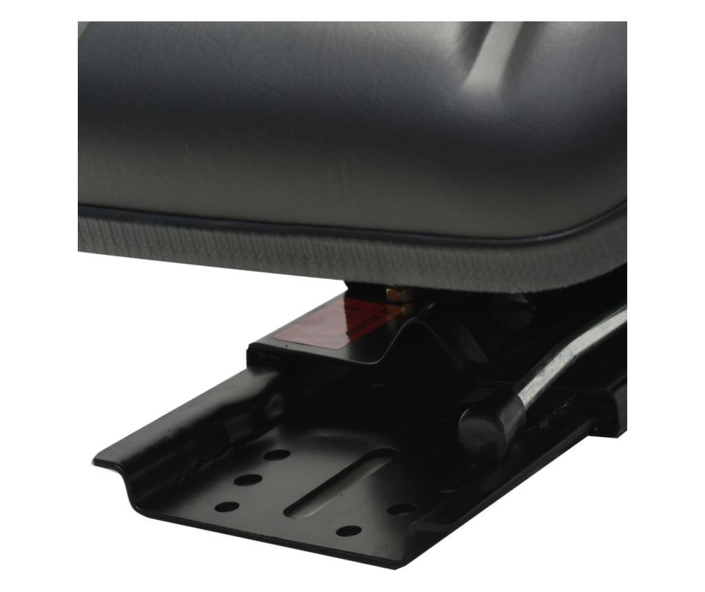 Fotel do ciągnika z zawieszeniem, czarny