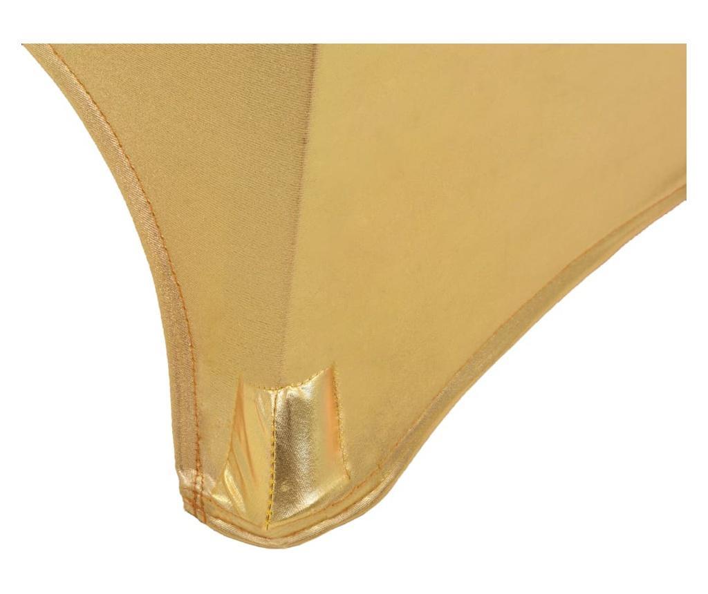 Dwa obrusy elastyczne, 80 cm, złote