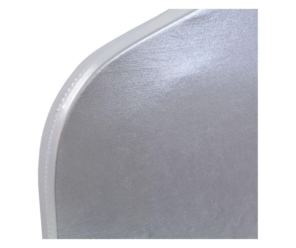 Elastyczne pokrowce na krzesła, 6 szt., srebrne