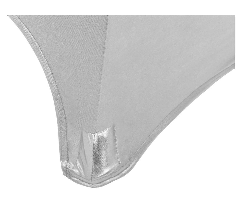 Dwa obrusy elastyczne, 60 cm, srebrne