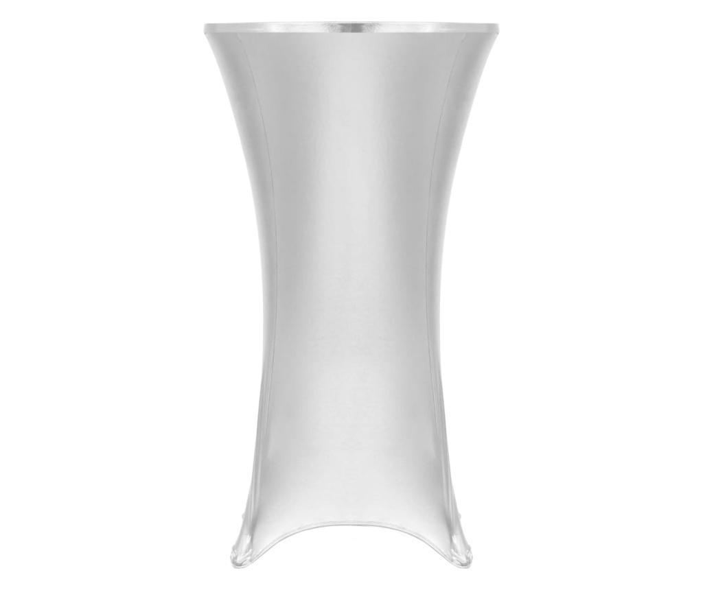 Dwa obrusy elastyczne, 70 cm, srebrne