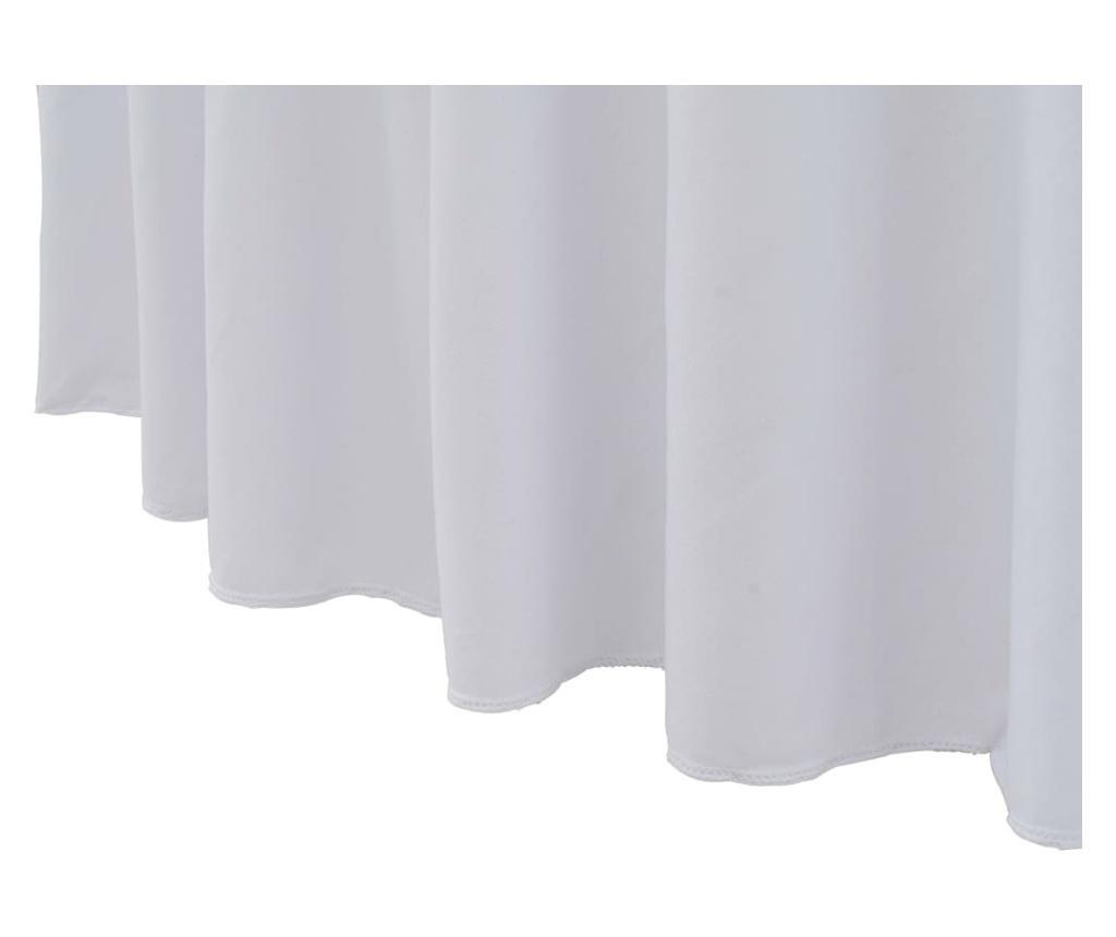 Elastyczne obrusy z falbaną, 2 szt., 180 x 74 cm, białe