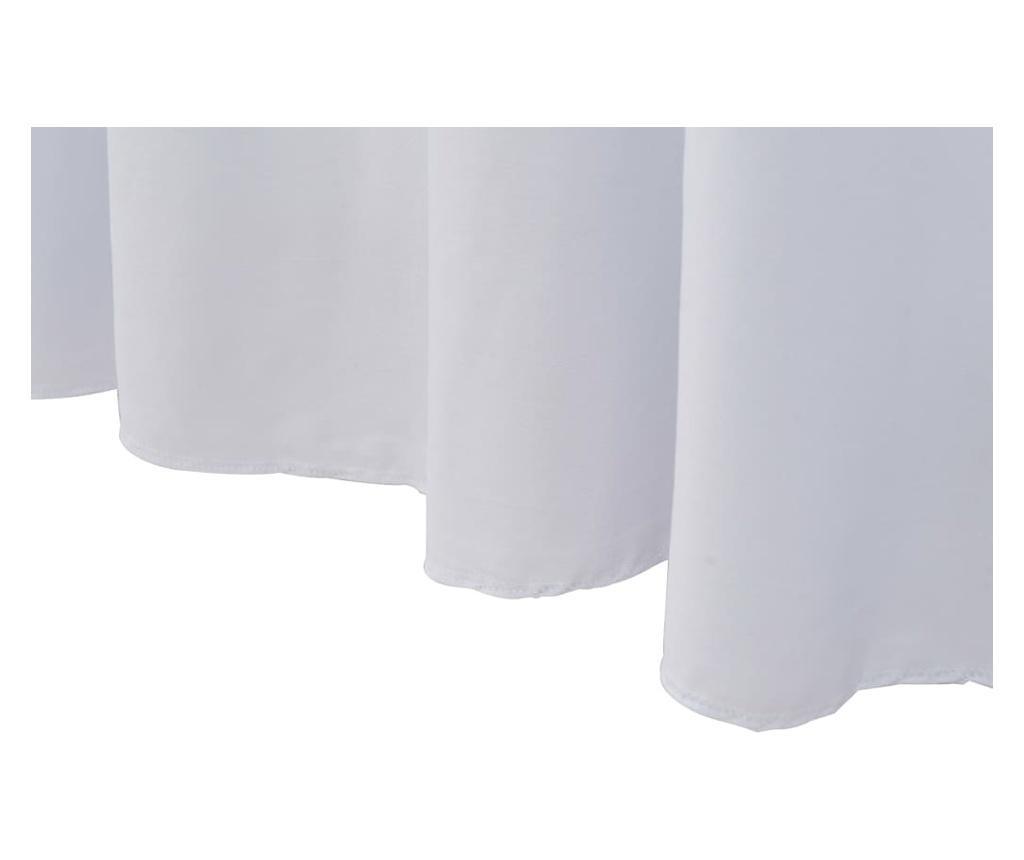 Elastyczne obrusy z falbaną, 2 szt., 183 x 76 x 74 cm, białe