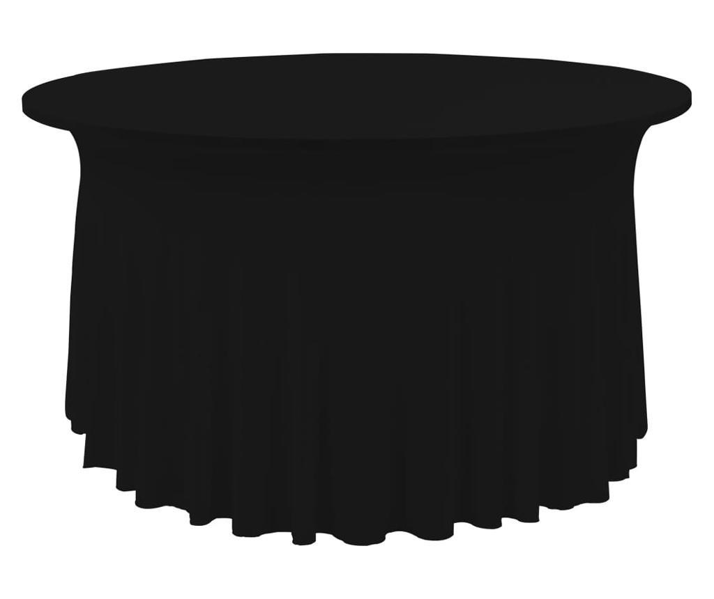Elastyczne obrusy z falbaną, 2 szt., 180 x 74 cm, czarne