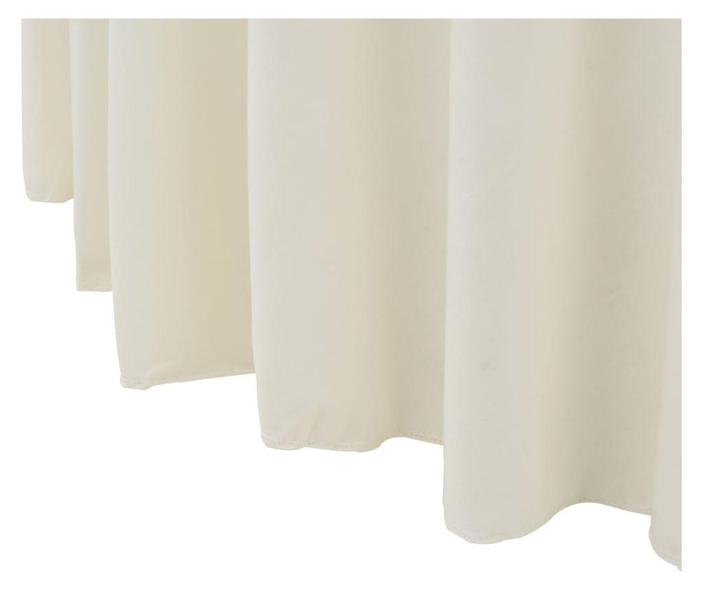 Elastyczne obrusy z falbaną, 2 szt., 150 x 74 cm, kremowe