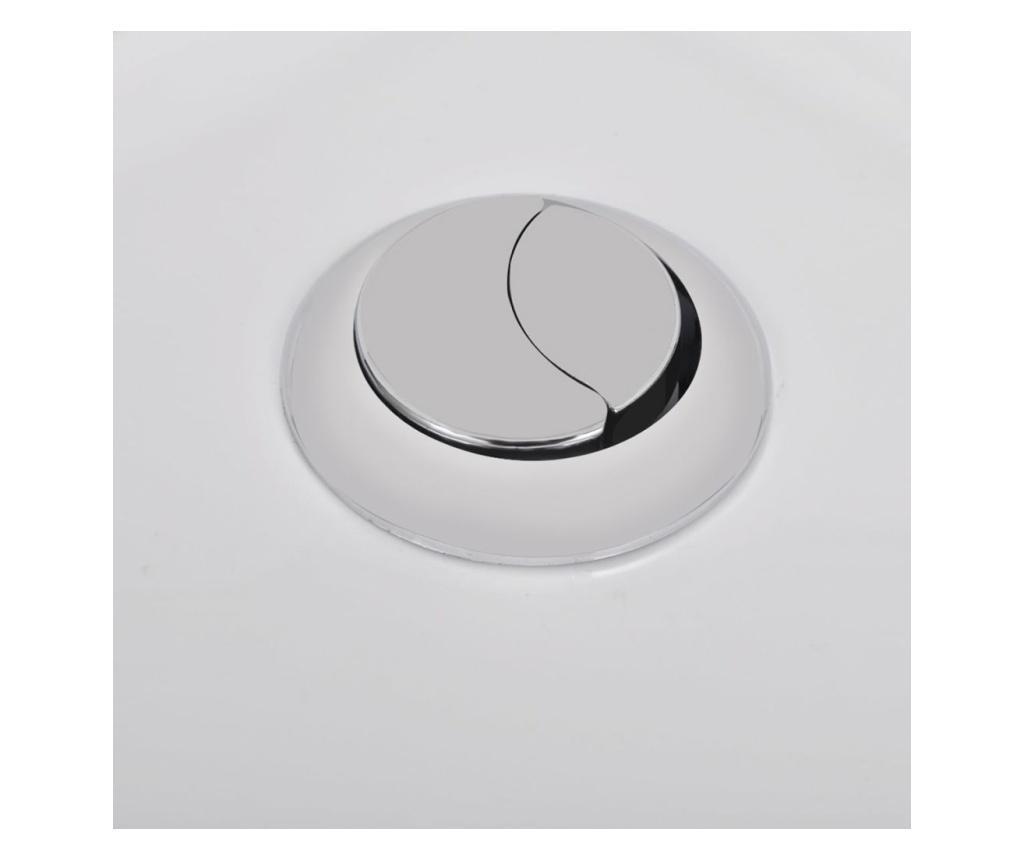 Keramička okrugla toaletna školjka s protokom vode bijela