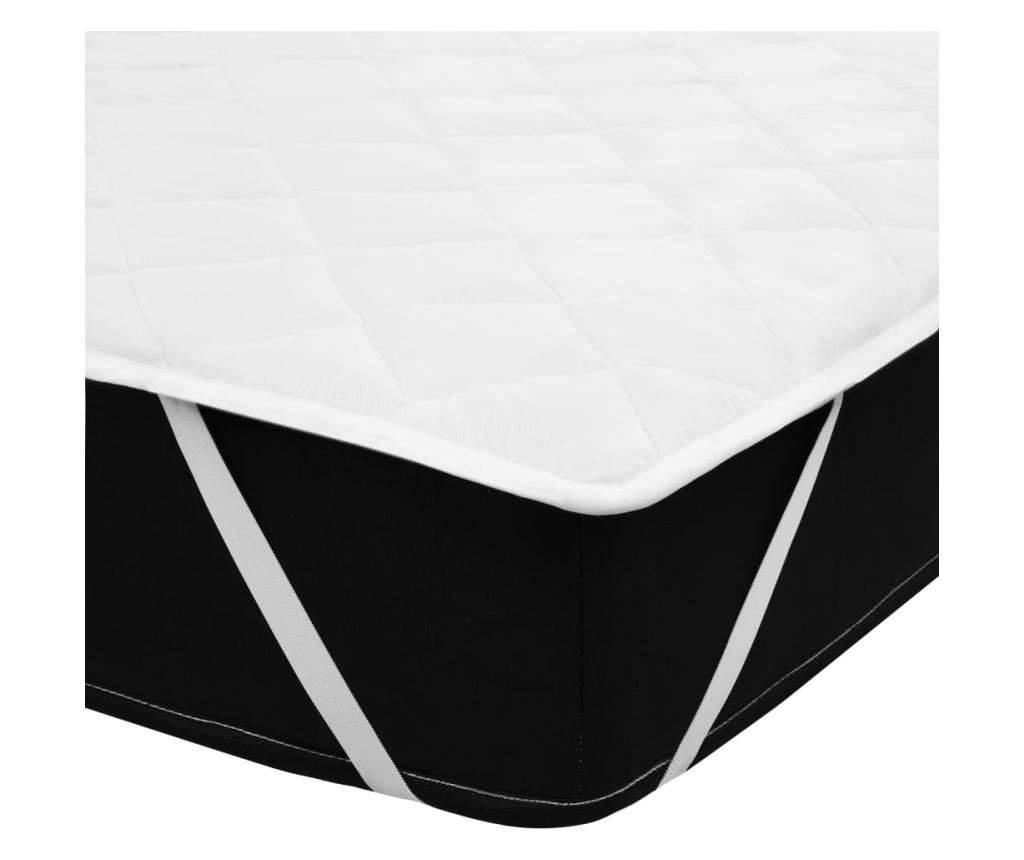 fehér steppelt nehéz matracvédő 70 x 140 cm