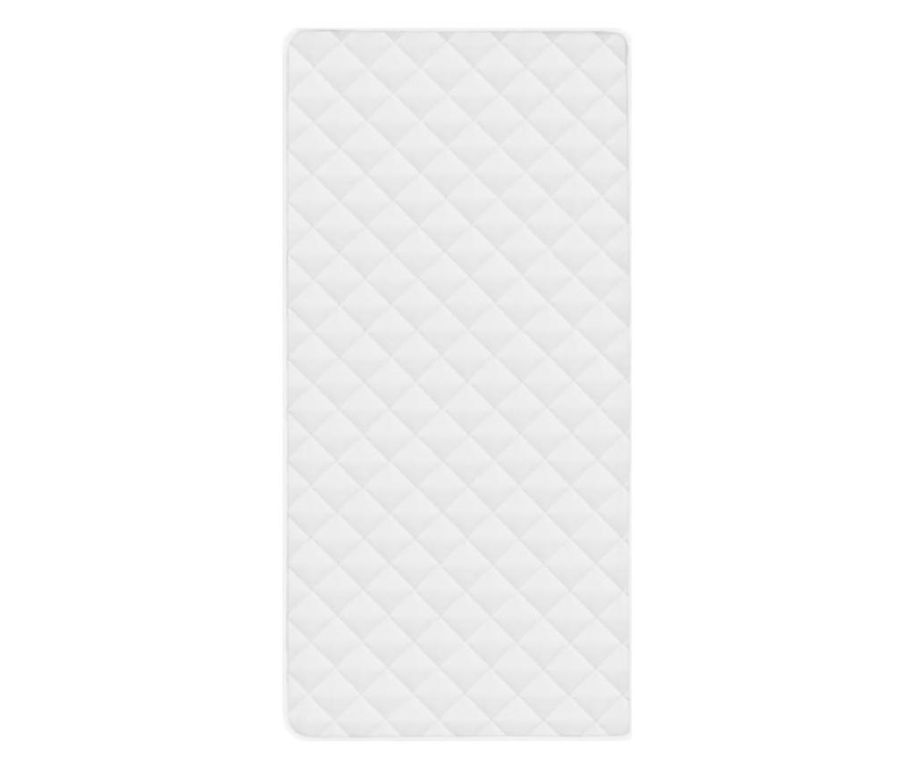 fehér steppelt könnyű matracvédő 70 x 140 cm