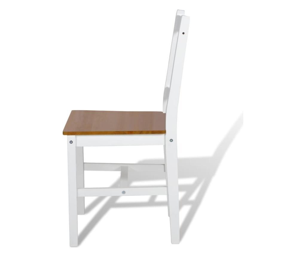 Jídelní židle 2 ks bílé borové dřevo