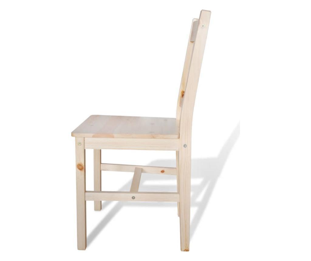 Jídelní židle 4 ks borové dřevo