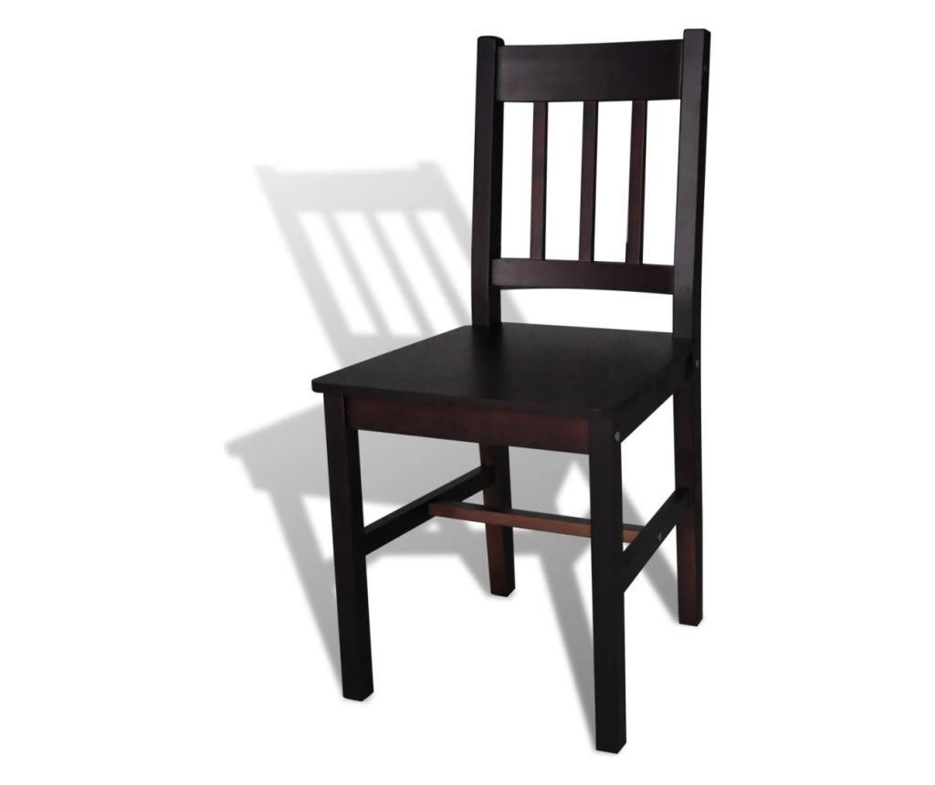 Jídelní židle 2 ks tmavě hnědé borové dřevo