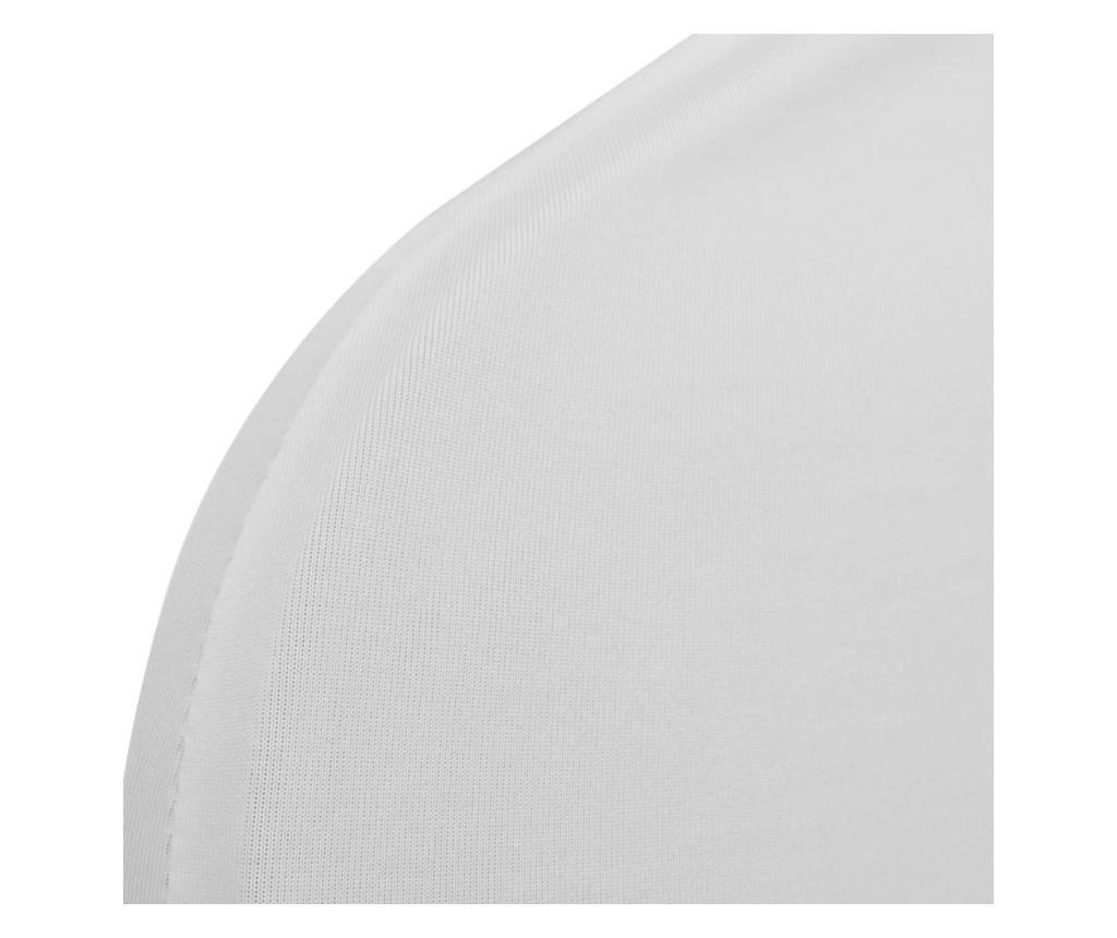 Białe elastyczne pokrowce na krzesła, 6 szt.