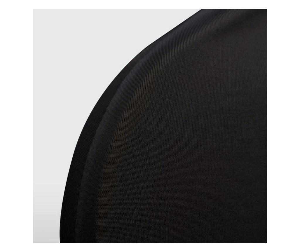 Czarne elastyczne pokrowce na krzesła, 6 sztuk