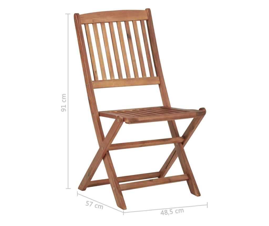 Składane krzesła ogrodowe, 2 szt., lite drewno akacjowe