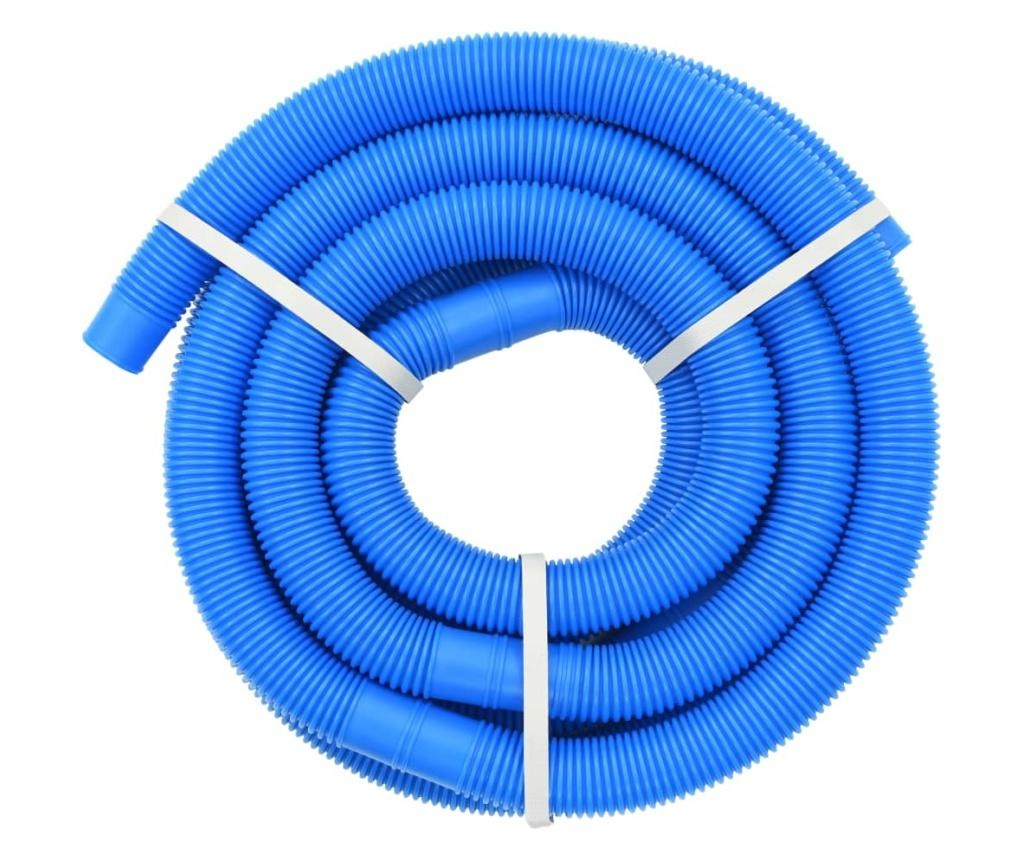 Wąż do basenu z opaskami zaciskowymi, niebieski, 38 mm, 6 m