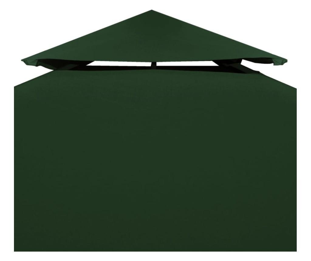 Zadaszenie altany ogrodowej, 310 g/m², zielone, 3x3 m